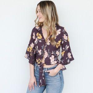 purple floral top